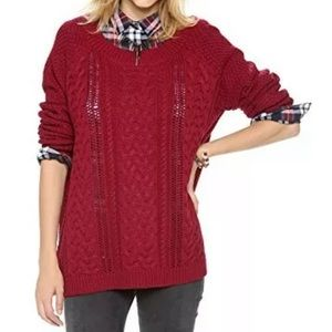 Lovers + Friends Cable Knit Pullover Sweater Small